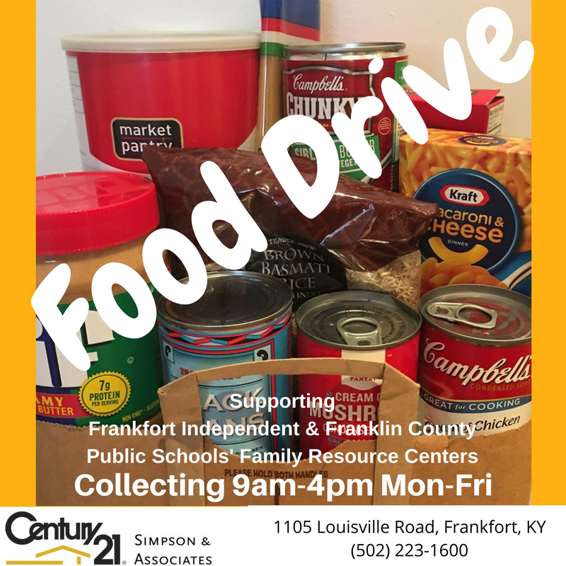2017 Food Drive - November and December