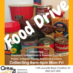 Help us collect food to benefit the Frankfort Independent & Franklin County Schools' Family Resource Centers