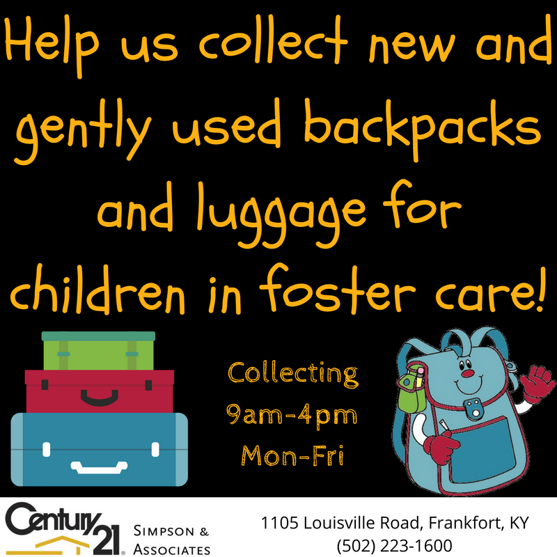 Foster Care Luggage Drive