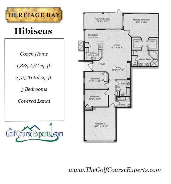 Heritage Bay Floor Plans The Golf Course Experts Jim