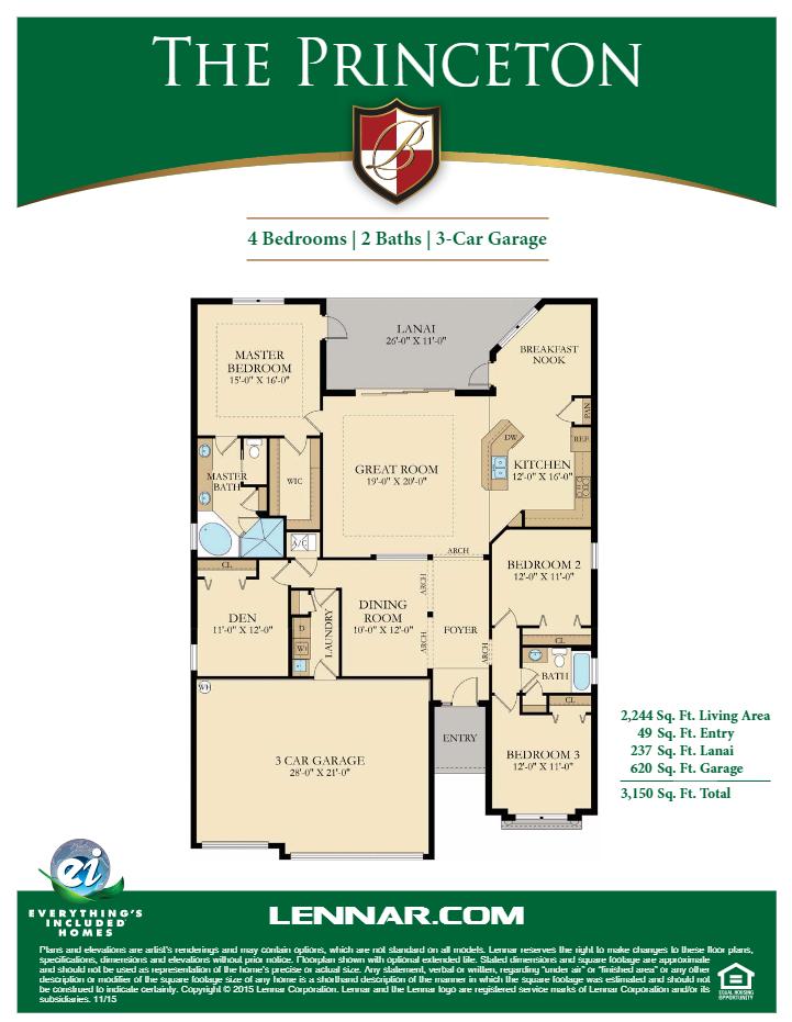 Princeton%20Single%20Family%20Bonita%20National Naples Coach Homes Floor Plans on naples real estate, naples food, naples hotel,