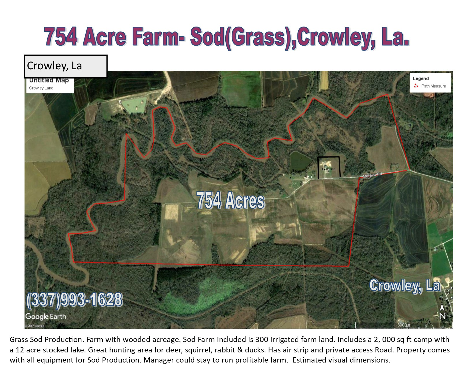 754 Acres of Prime Farm Land - Presently a Grass(Sod) FArm