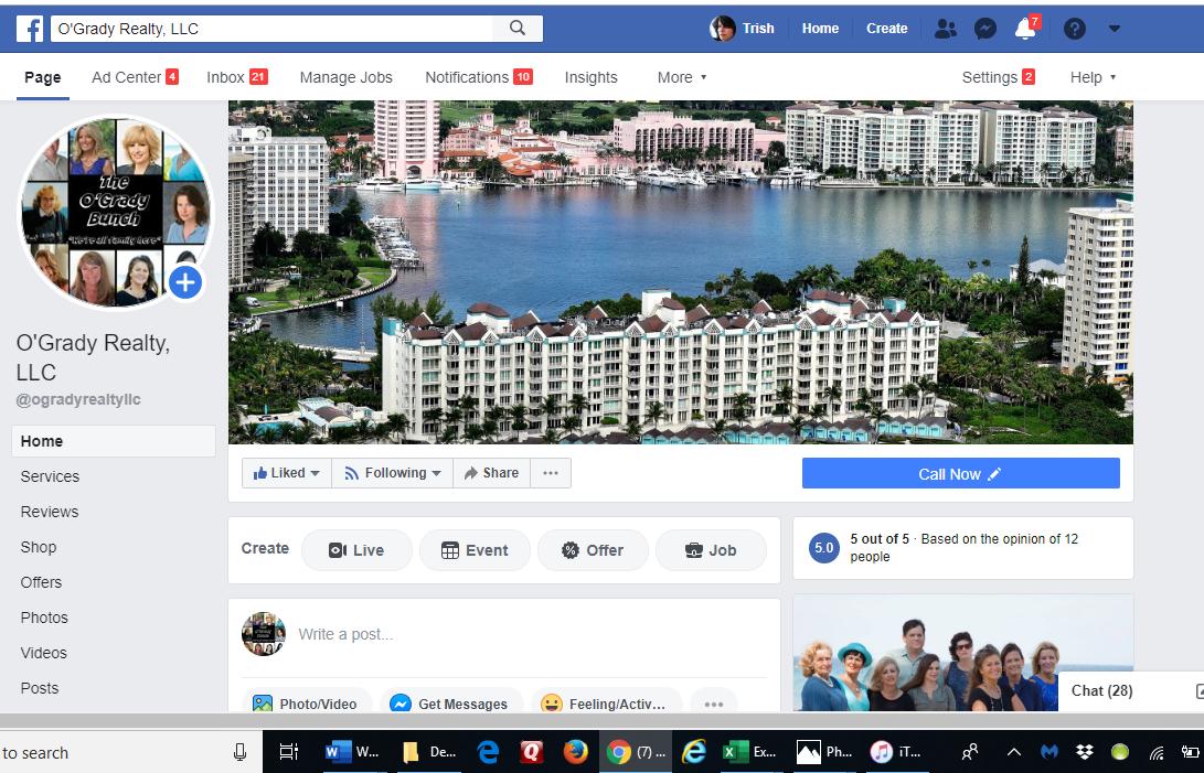 O'Grady Realty Facebook Page