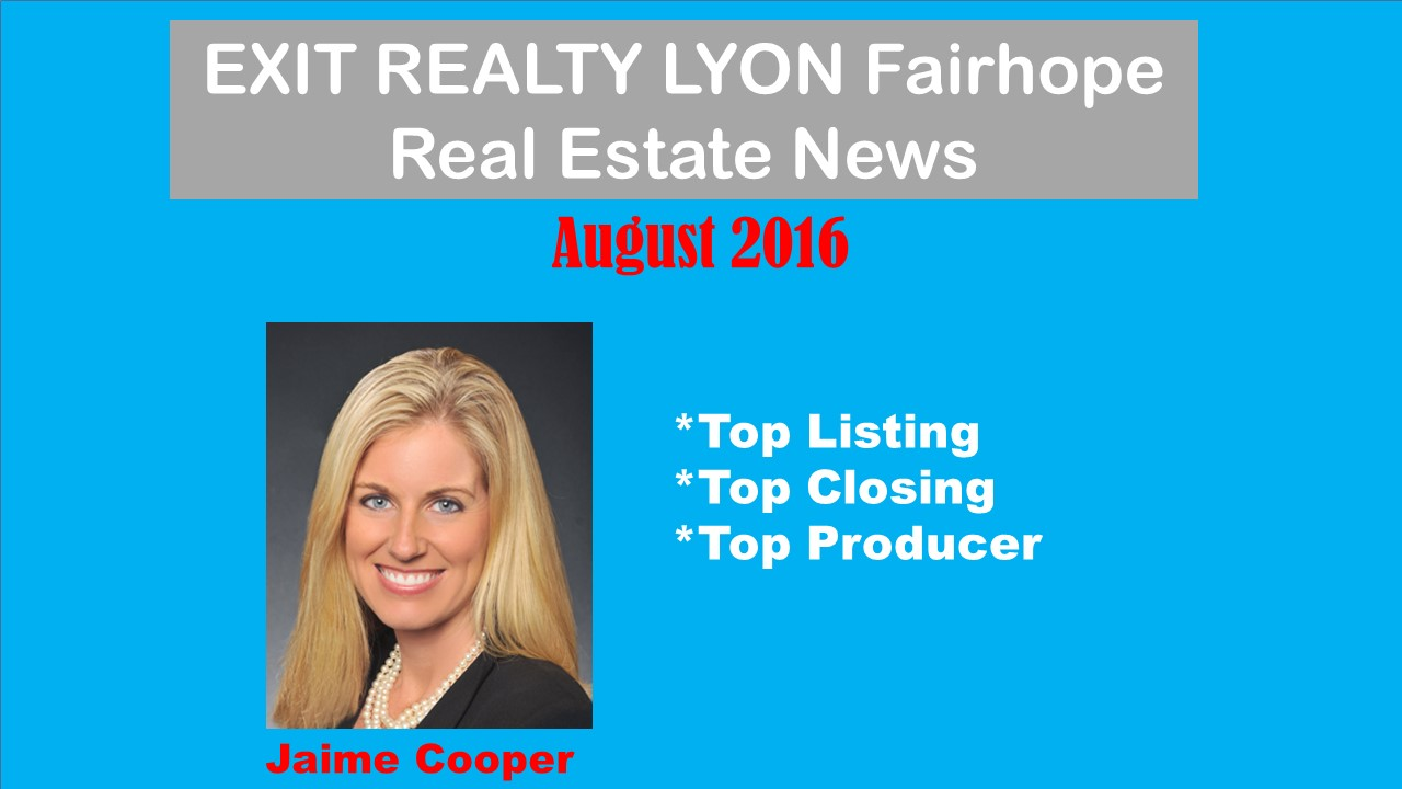 Top Agent August - December 2016 Fairhope