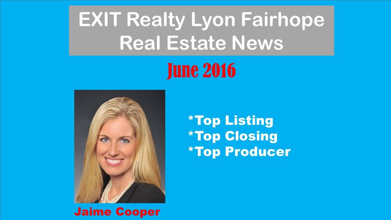 Top Agent Fairhope June 2016