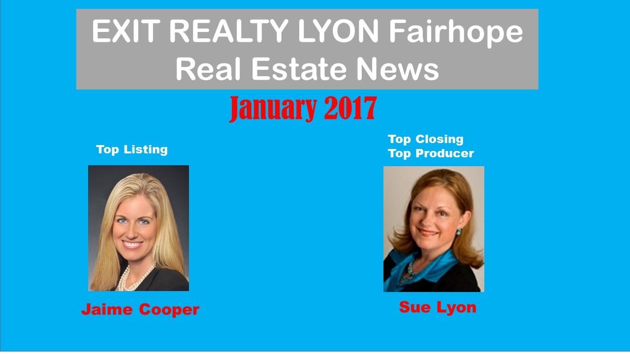 Top Agents January 2017 Fairhope