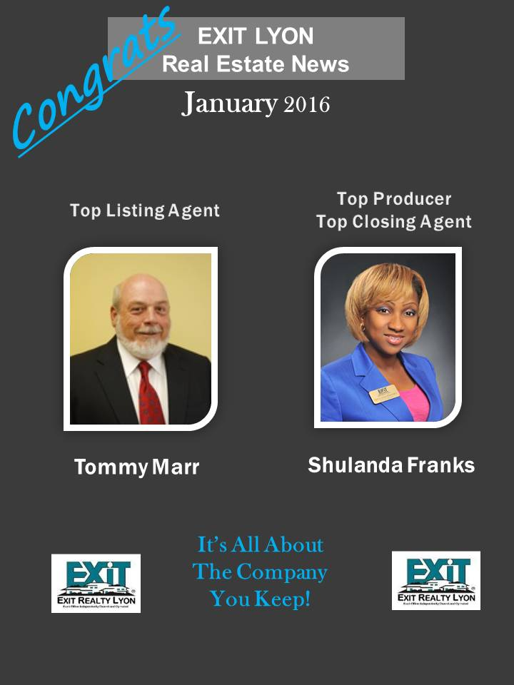Top Agents for January 2016