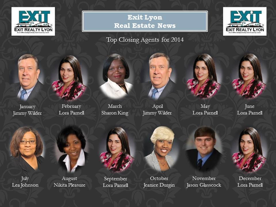 Top Closing Agents for 2014