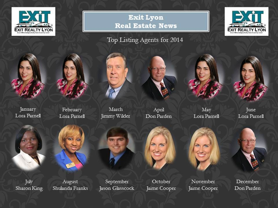 Top Listing Agents for 2014