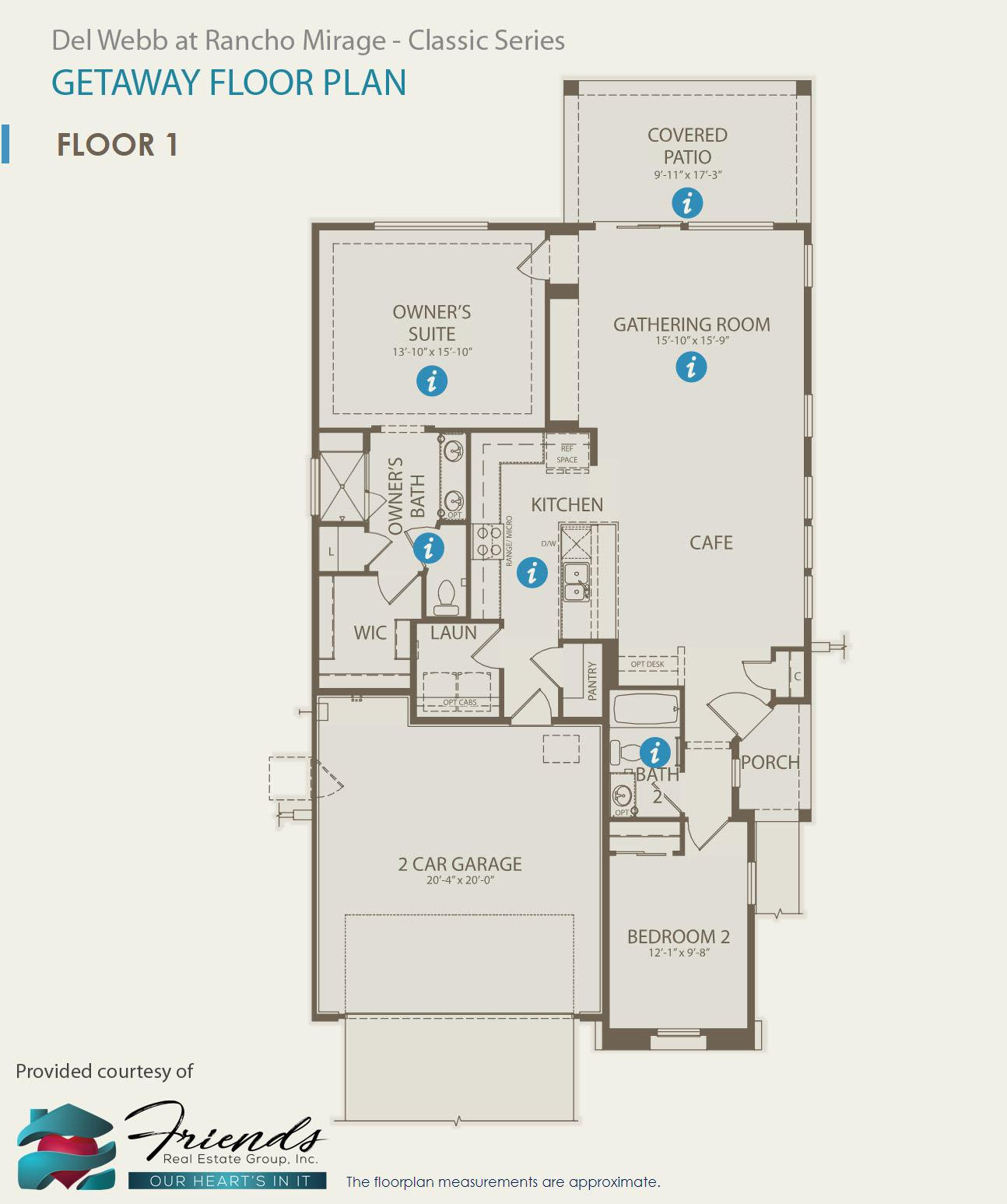Classic Series ~ Getaway Floor Plan