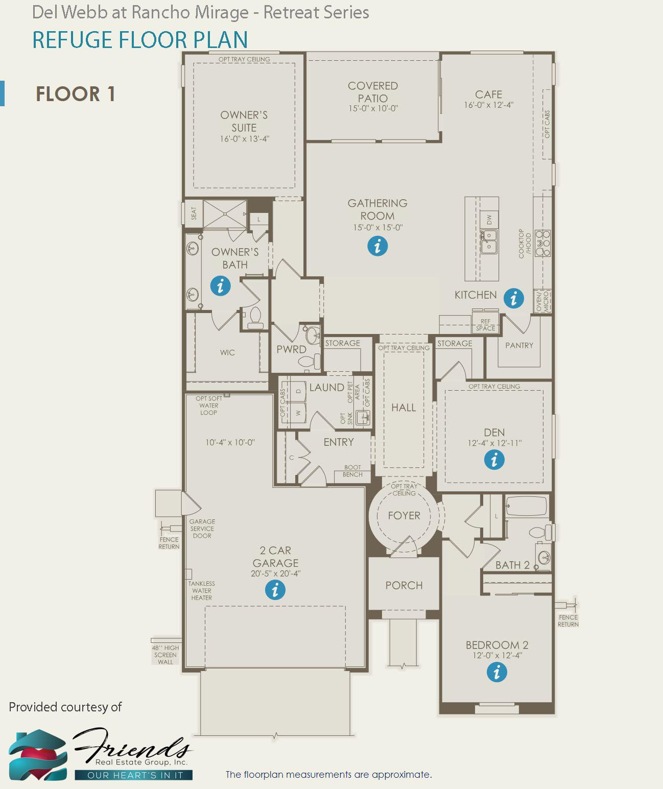 Retreat Series ~ Refuge Floor Plan