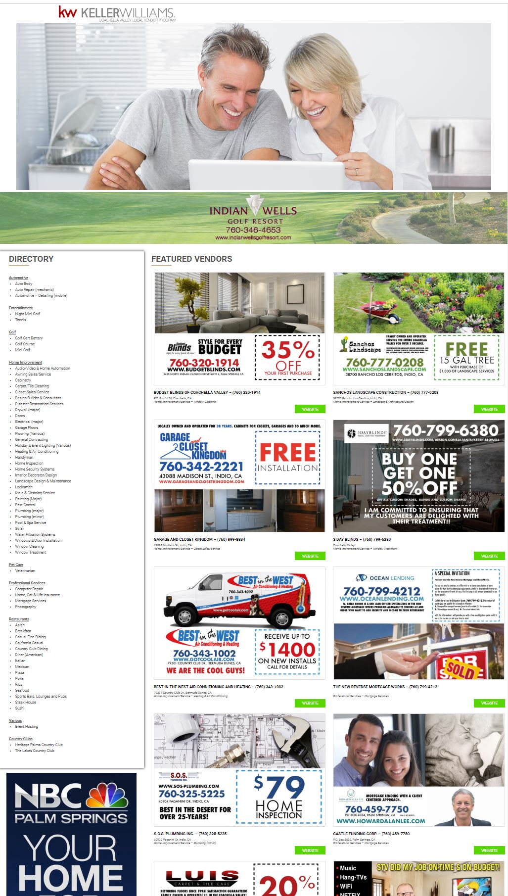 PREFERRED LOCAL VENDORS DIRECTORY (COACHELLA VALLEY)