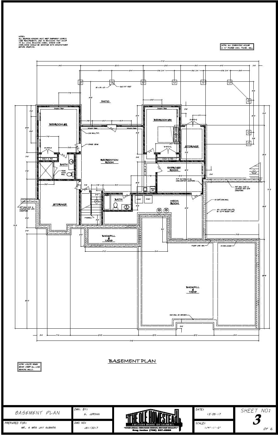Lake Hartwell Dream Home - Basement Plan