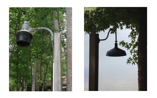 Old and New Down Light at Lake Hartwell