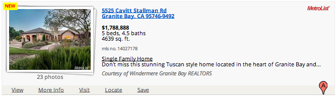 5525 Cavitt Stallman Rd Granite Bay, CA 95746-9492