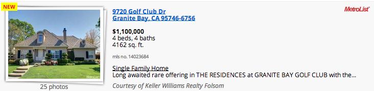 9720 Golf Club Dr Granite Bay, CA 95746-6756, Robert Yost, PRIME Real Estate, (916) 804-5658
