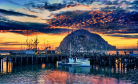 Morro Rock in Morro Bay, California