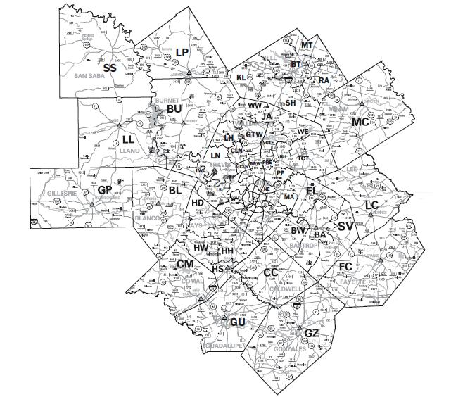 Search homes using the Austin MLS map