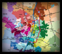 Austin Texas area zip code map