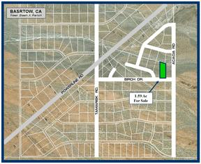 Barstow CA Residential Lots & Land For Sale: $4,000