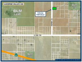 Lucerne Valley CA Residential Lots & Land For Sale: $7,000