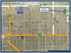 Lucerne Valley CA Residential Lots & Land For Sale: $9,500