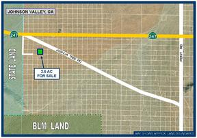 Johnson Valley CA Residential Lots & Land For Sale: $7,500