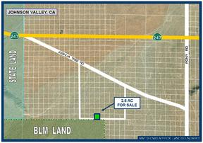 Residential Lots & Land For Sale: 2.5 Acres South of Joshua Tree Rd