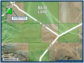 Barstow CA Residential Lots & Land For Sale: $19,950