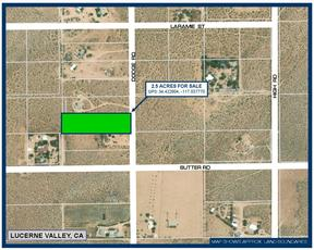 Lucerne Valley CA Residential Lots & Land For Sale: $12,500