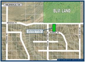 Helendale CA Residential Lots & Land For Sale: $15,300
