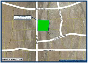 California City CA Residential Lots & Land For Sale: $19,950