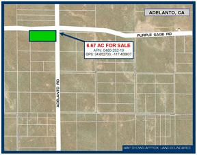 Residential Lots & Land For Sale: 6.66 Ac on Adelanto Rd.