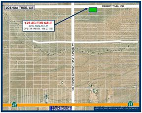 Joshua Tree CA Residential Lots & Land For Sale: $8,888