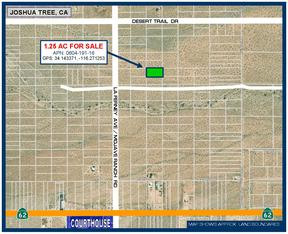 Joshua Tree CA Residential Lots & Land For Sale: $6,888