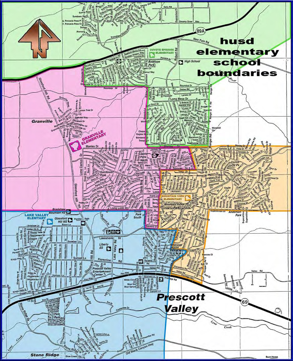 Humboldt Unified Elementary School Boundary Map