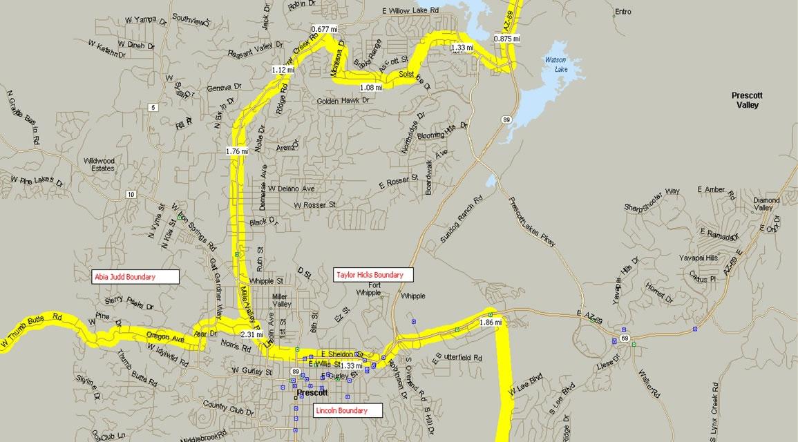 Prescott School Boundary Map