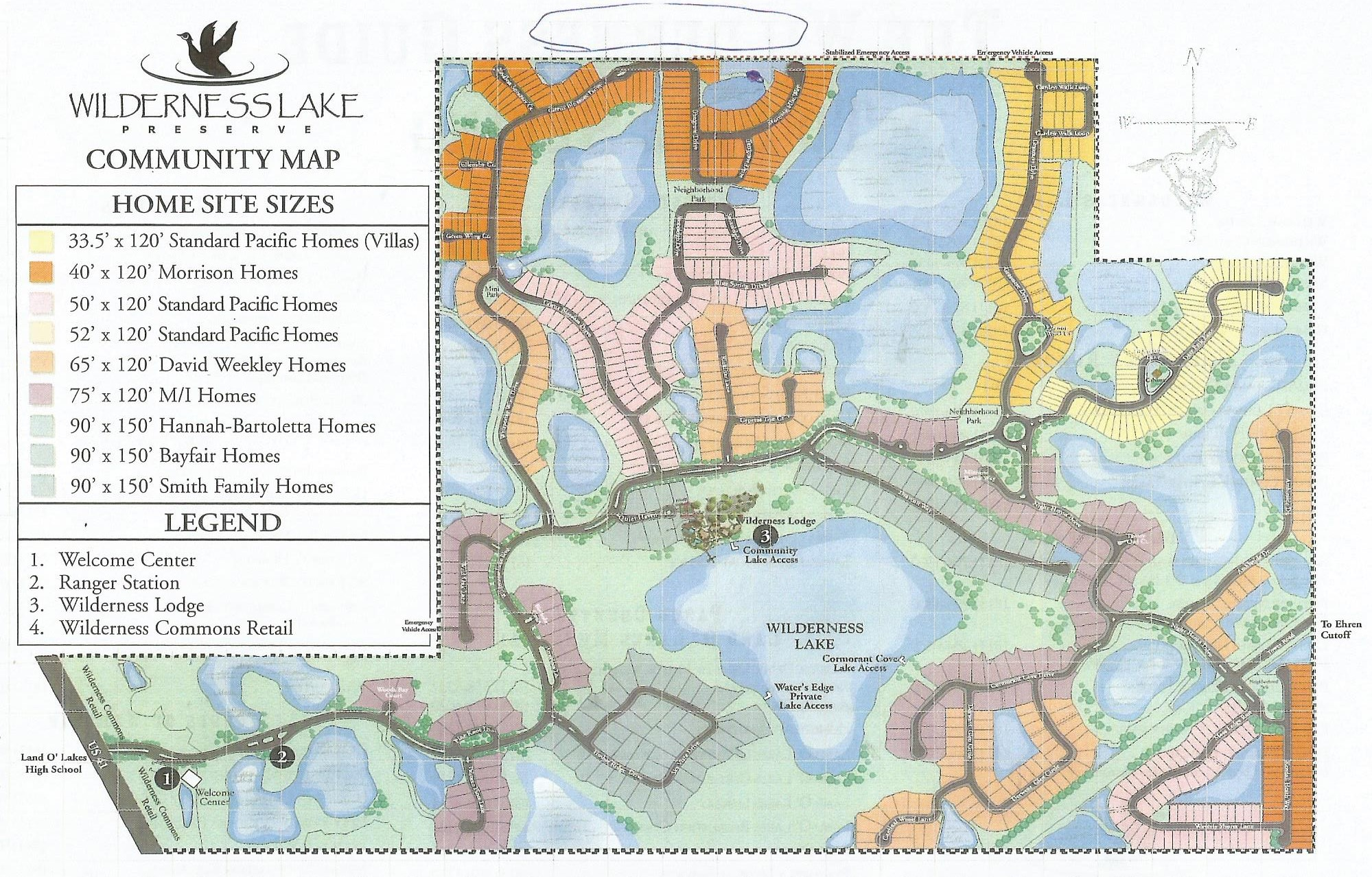 Wilderness Community Map Land O Lakes FL Homes For Sale Paul - Florida map for sale