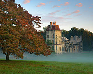 Morning Fog at Fonthill Castle ~ Doylestown, PA