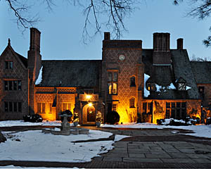 Historic Aldie Mansion in Doylestown at Night ~ HeritageConservancy.org
