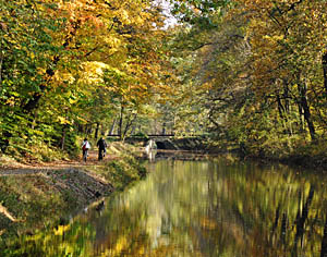 Delaware Canal Bordering Bucks County PA