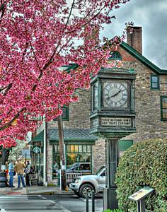 Newtown in Bucks County PA