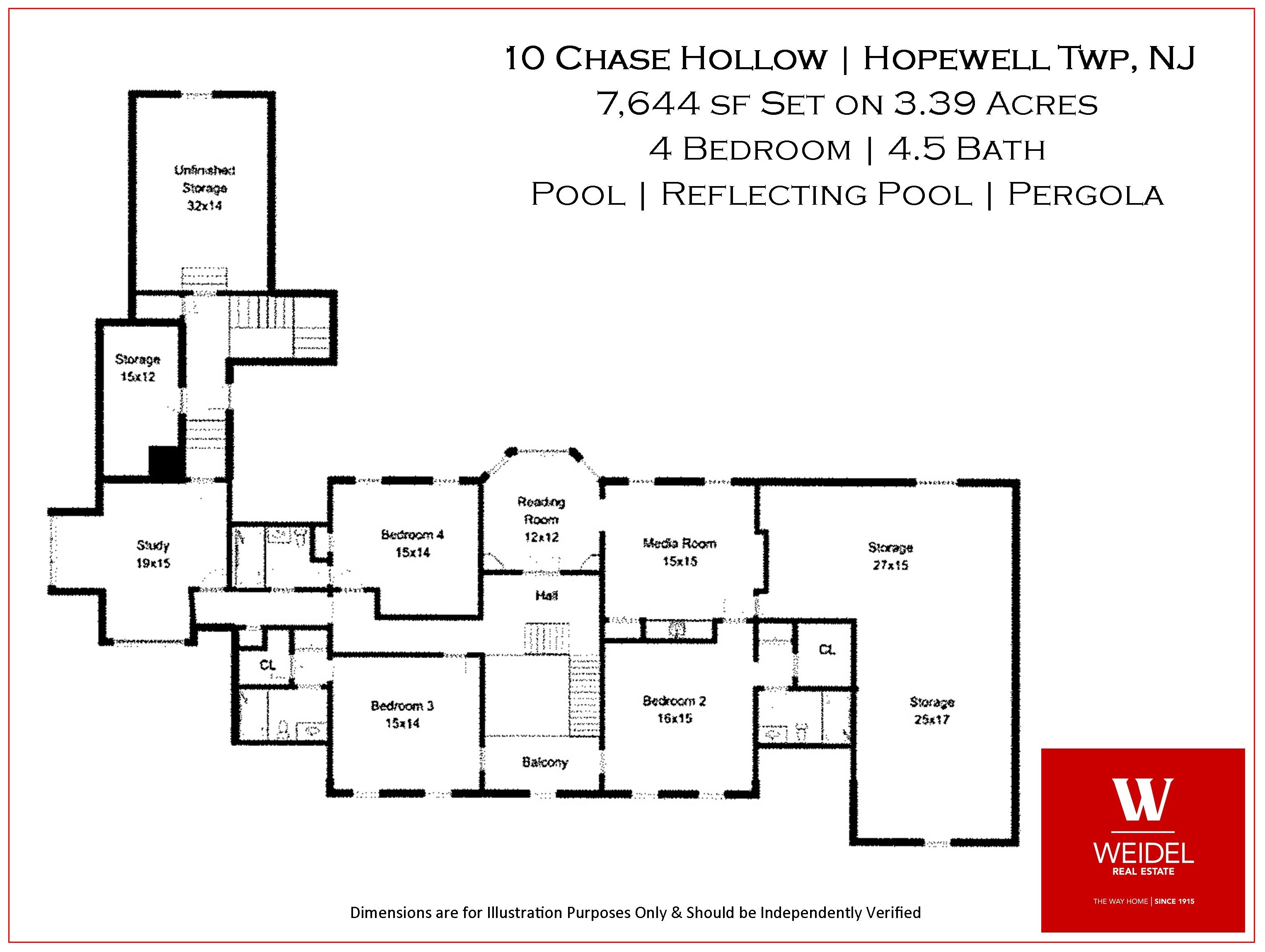 10 Chase Hollow Floor Plan Second Level
