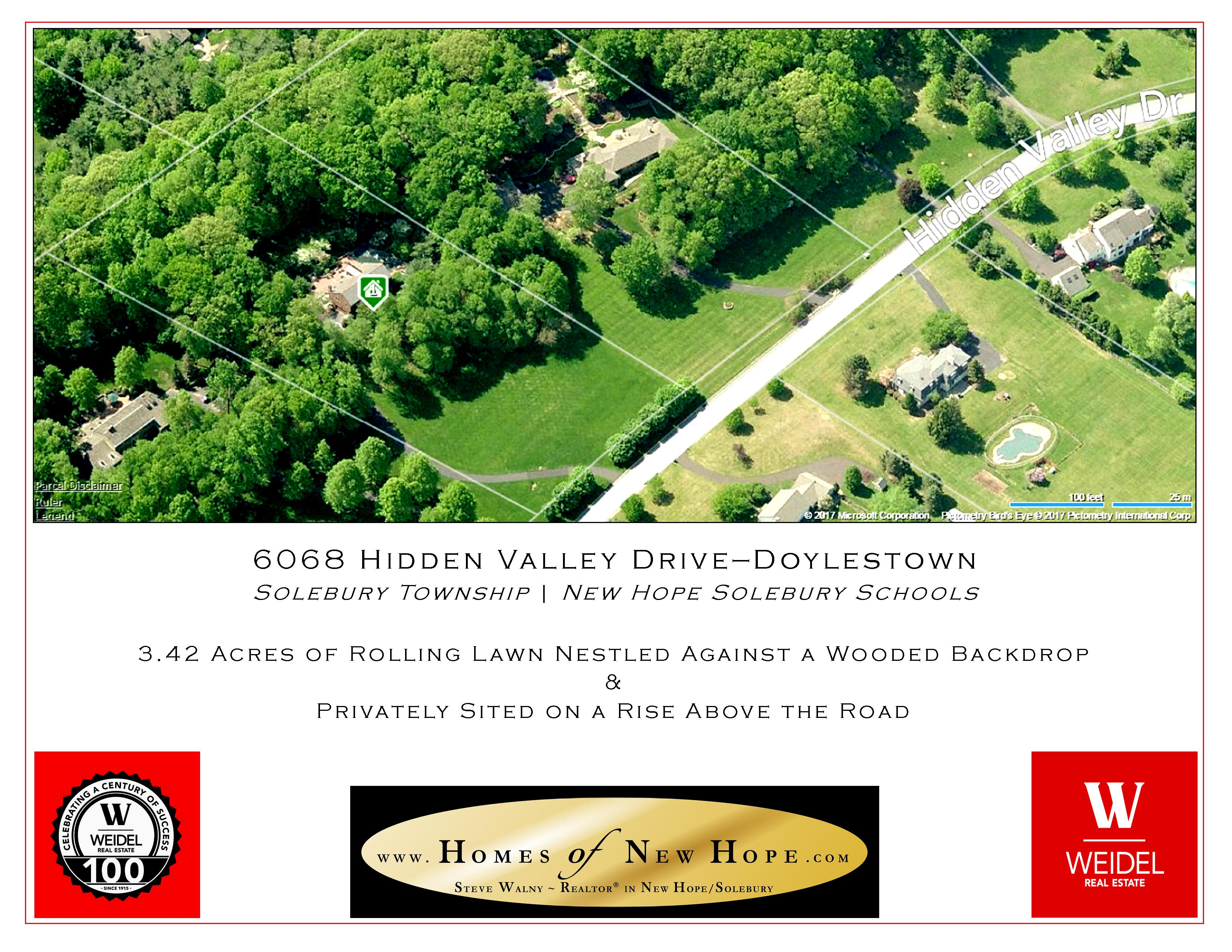 6068 Hidden Valley Drive Doylestown PA | Aerial Map | Homes of New Hope | Weidel New Hope | Weidel Doylestown