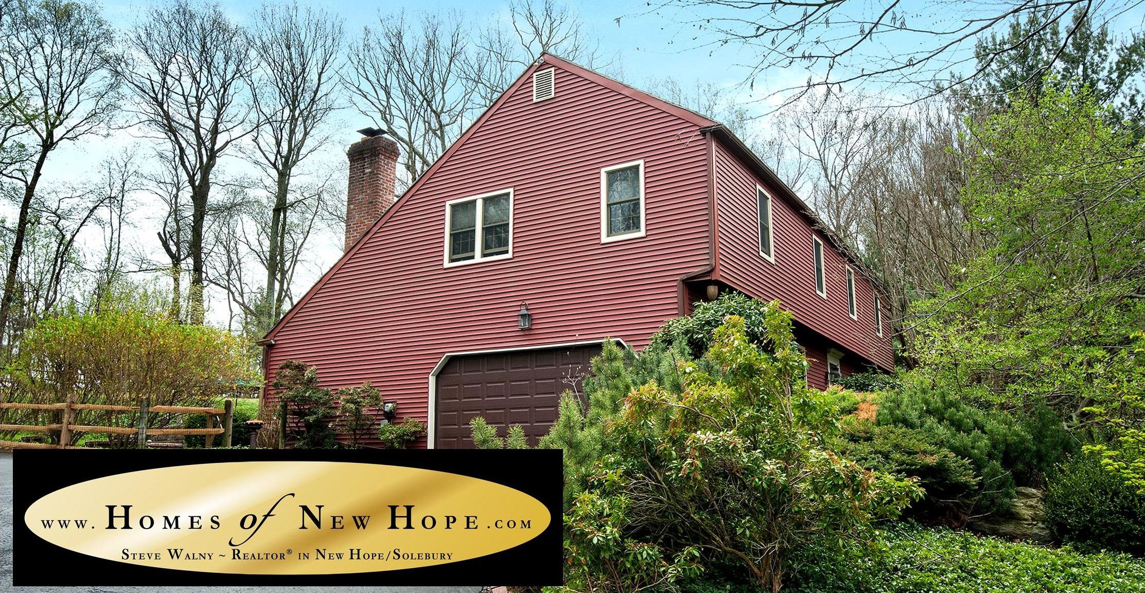 Homes of New Hope | Salt Box Bucks County | Solebury Home with Pool | Weidel Real Estate | Weidel Realtors