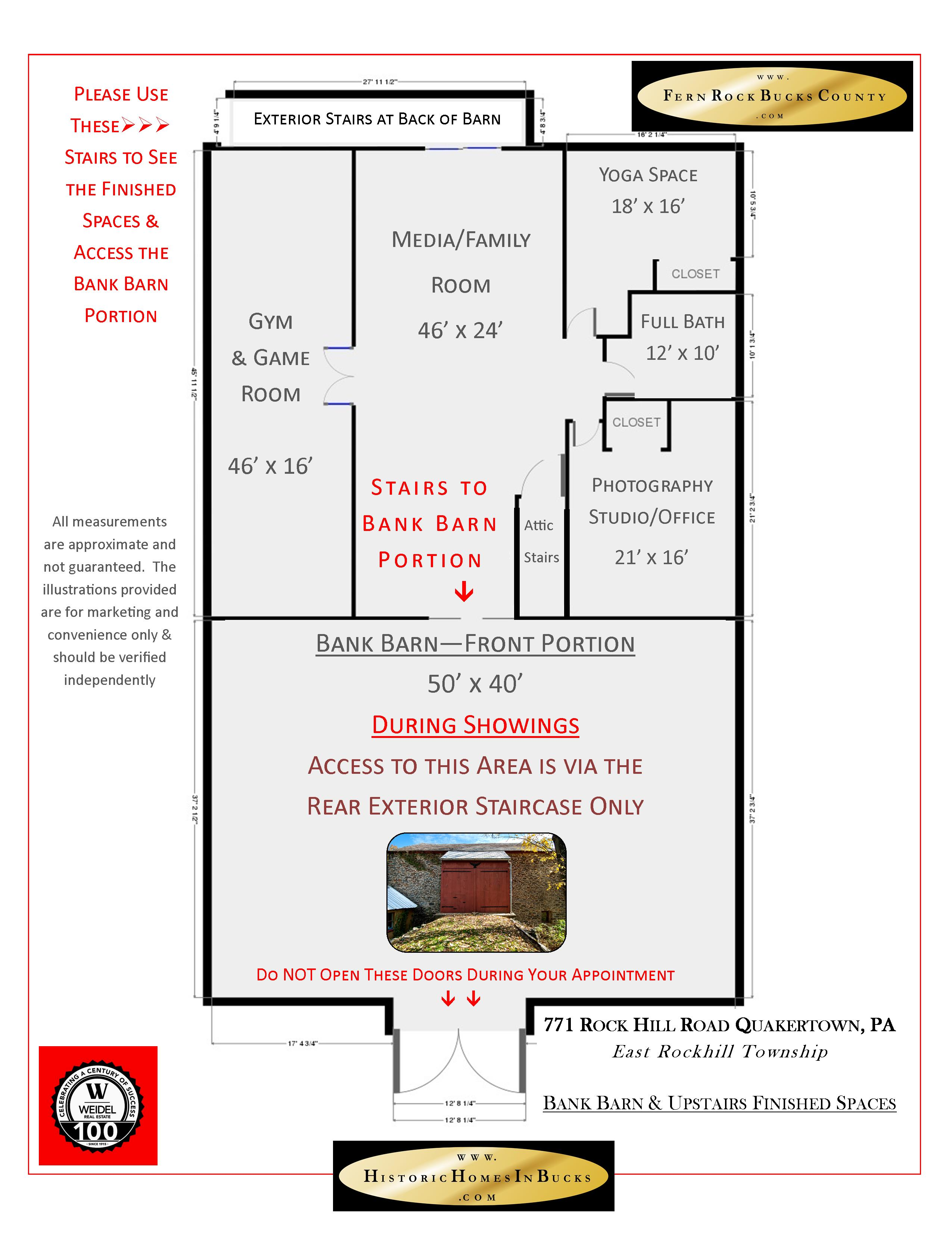 Fern Rock Bucks County Floor Plans of BARN 2nd Floor