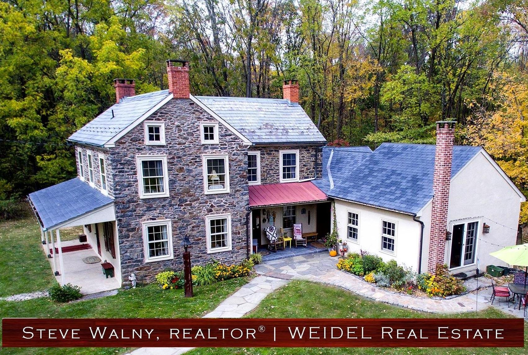 Bucks County Stone Home for Sale | www.StoneHomesInBucks.com | #StoneHomesInBucks | Weidel Real Estate | New Hope Realtor | Doylestown Realtor
