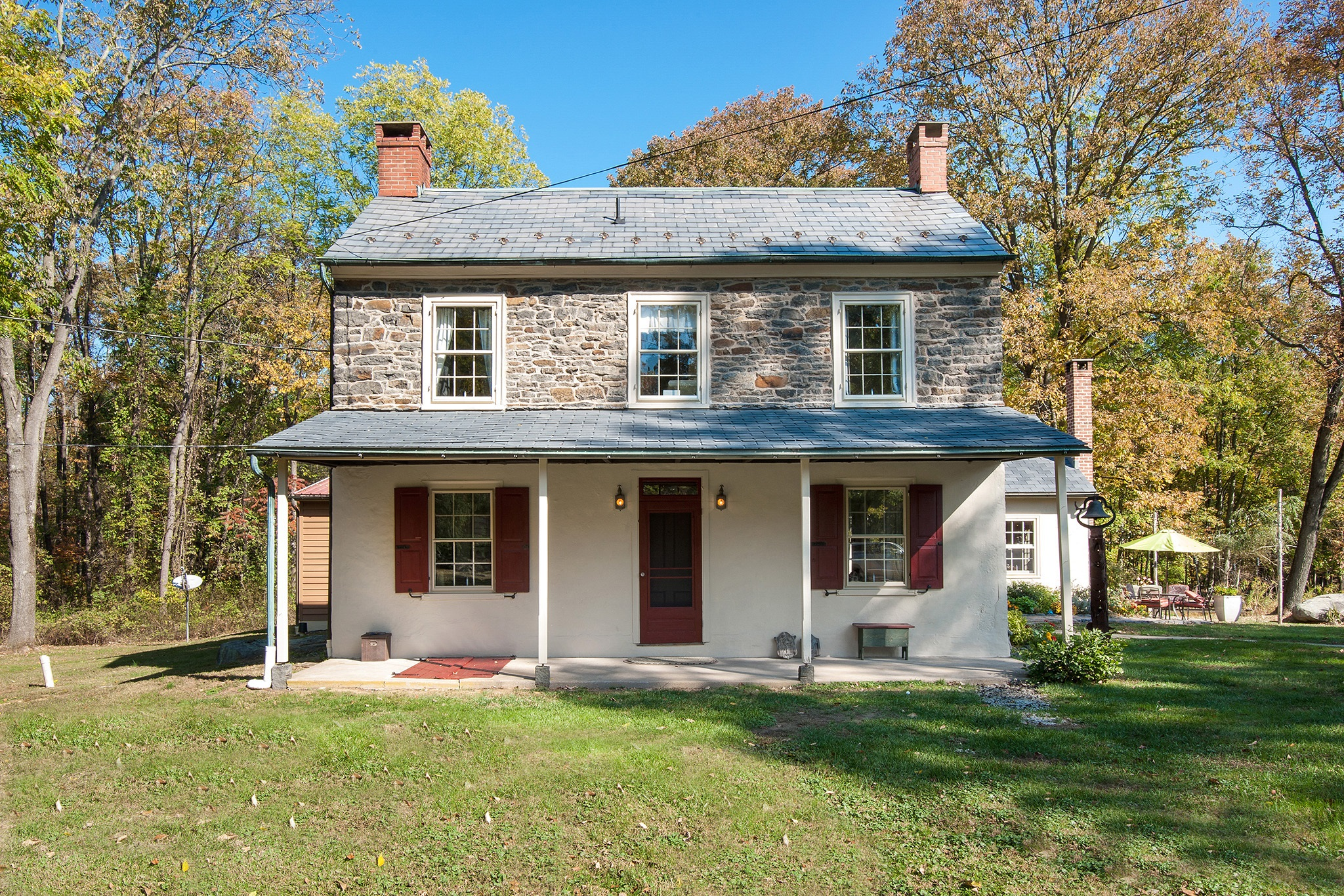 Fern rock bucks county stone farm house for sale in for Pennsylvania stone farmhouses