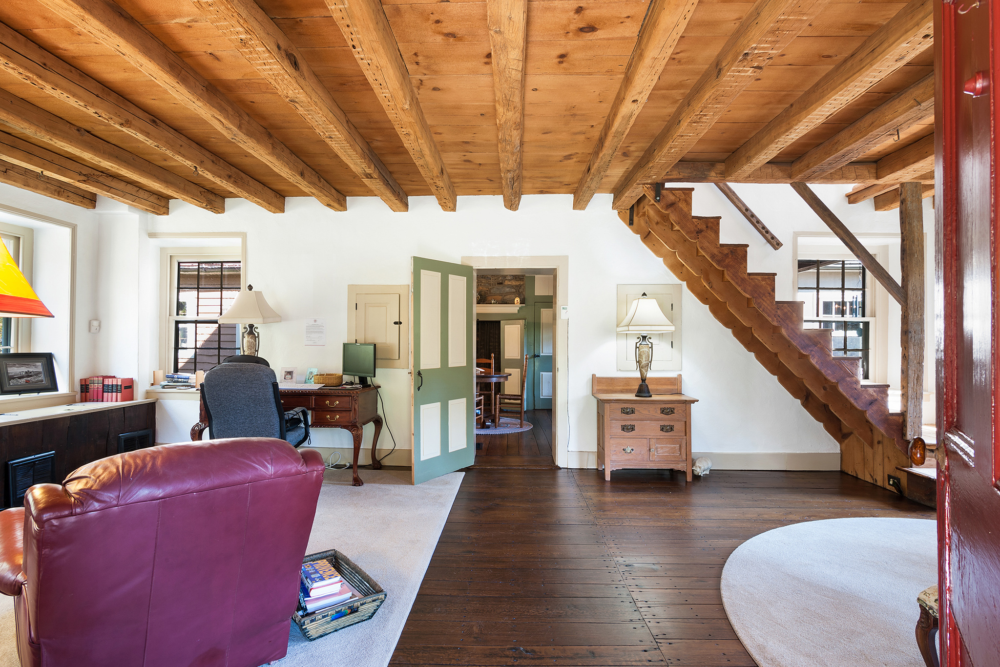 Barn Beam Ceiling Bucks County | #BucksBarnBeamCeiling