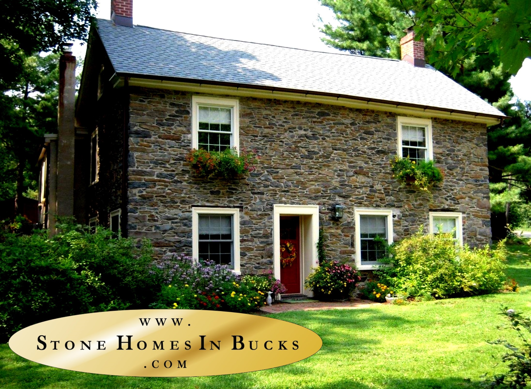Stone Homes In Bucks | Honeysuckle Cottage | Doylestown Realtor | Doylestown Realtors